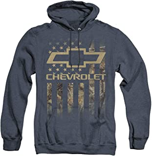 Chevrolet Camo Flag Unisex Adult Pull-Over Heather Hoodie