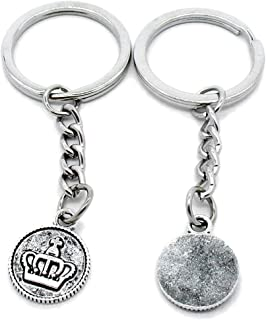 Metal Antique Silver Plated Keychains Keyrings Keytag YK100 Crown Tags Signs Key Chain Ring