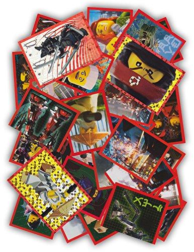 Blue Ocean - The LEGO Ninjago Movie 2017 - 50 Sammelsticker gemischt - Keine doppelten Bilder - Deutsche Ausgabe
