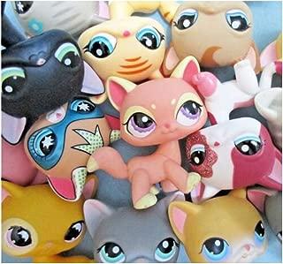 jjlin Mini Pet Shop Lot 3/Bag Random Shorthair Siamese Kitten Cats Authentic Lps