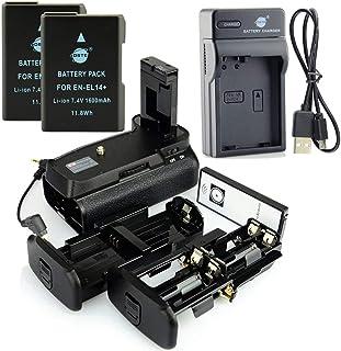 DSTE IR Remote MB-D31 Apretón Batería + 2x EN-EL14 Batería + USB Cargador para Nikon D3100 D3200 D3300 D5300