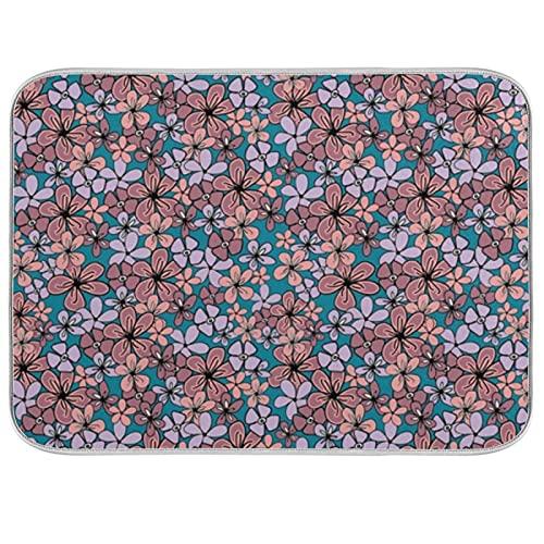 Pantone - Tappetino per asciugare i piatti, motivo floreale, 45,5 x 45,8 cm, per cucina e controsoffitti