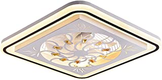 ACHNC Cristal Ventilador de Techo Con Iluminación LED Regulable Moderno Luz de Ventilador de Techo Silencioso Con Mando a Distancia Temporizador Salon Dormitorio Niños Lámpara de Ventilador,Ø50CM