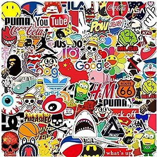 Laptop Aufkleber Packung 100 Stück, Trendy Sticker Einzigartige Coole Aufkleber Wasserflasche Notebook Gitarre Skateboard Reise Kinder Aufkleber…