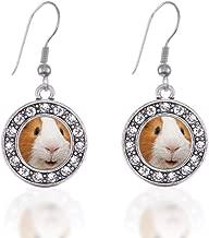 guinea pig earrings silver