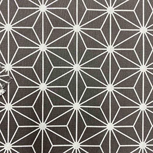Kt KILOtela Tela por Metros de loneta Estampada - Ancho 280 cm - Largo a elección de 50 en 50 cm   Geométrico, Diamante - Gris