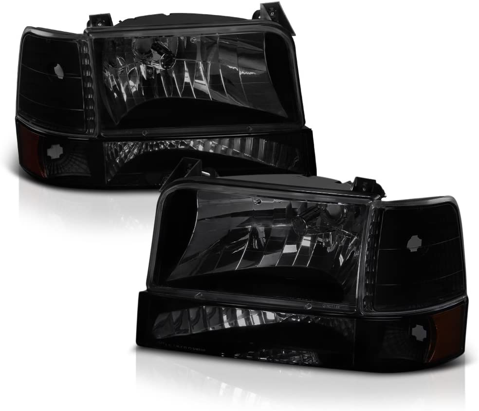 VIPMOTOZ Black Smoke Sale special Trust price OE-Style Headlight Marker Corner Side Lam