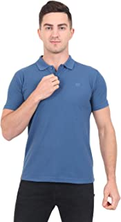 ManHood Men's Cotton Solid Regular Fit Polo T-Shirt