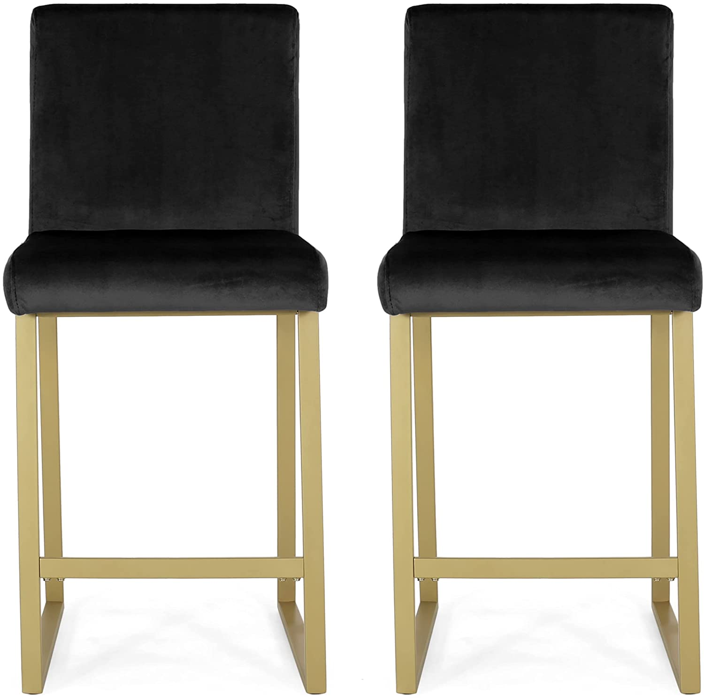 Christopher Knight Latest item Home Lexi Modern Barstools Black and San Antonio Mall Velvet
