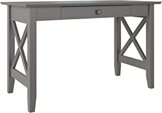 Atlantic Furniture Lexi Desk with Drawer, Grey