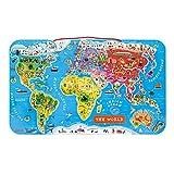 Janod - Il Mondo Magnetico Puzzle di Legno, 92 Pezzi, Versione Inglese Colore Multicolore, J05504