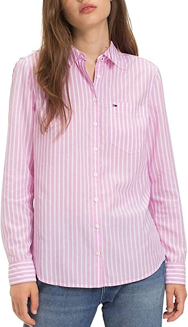 Tommy Hilfiger - Camisa de Manga Larga Mujer Color: Rosa ...