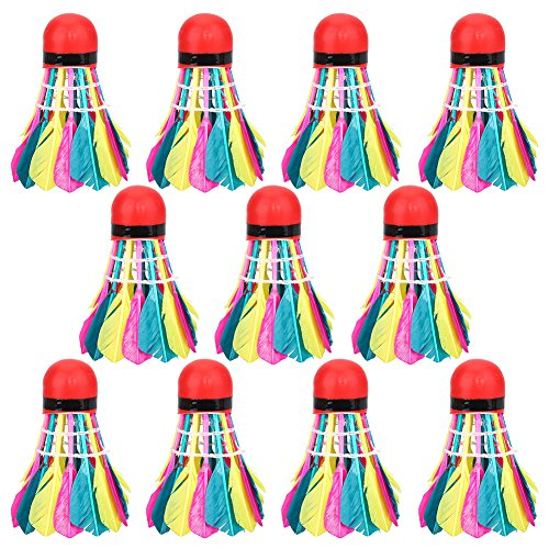 Sport Badminton Shuttlecocks, 11Pcs / Lot Durable Bunte Badminton Bälle Shuttlecocks Sport Training Zubehör