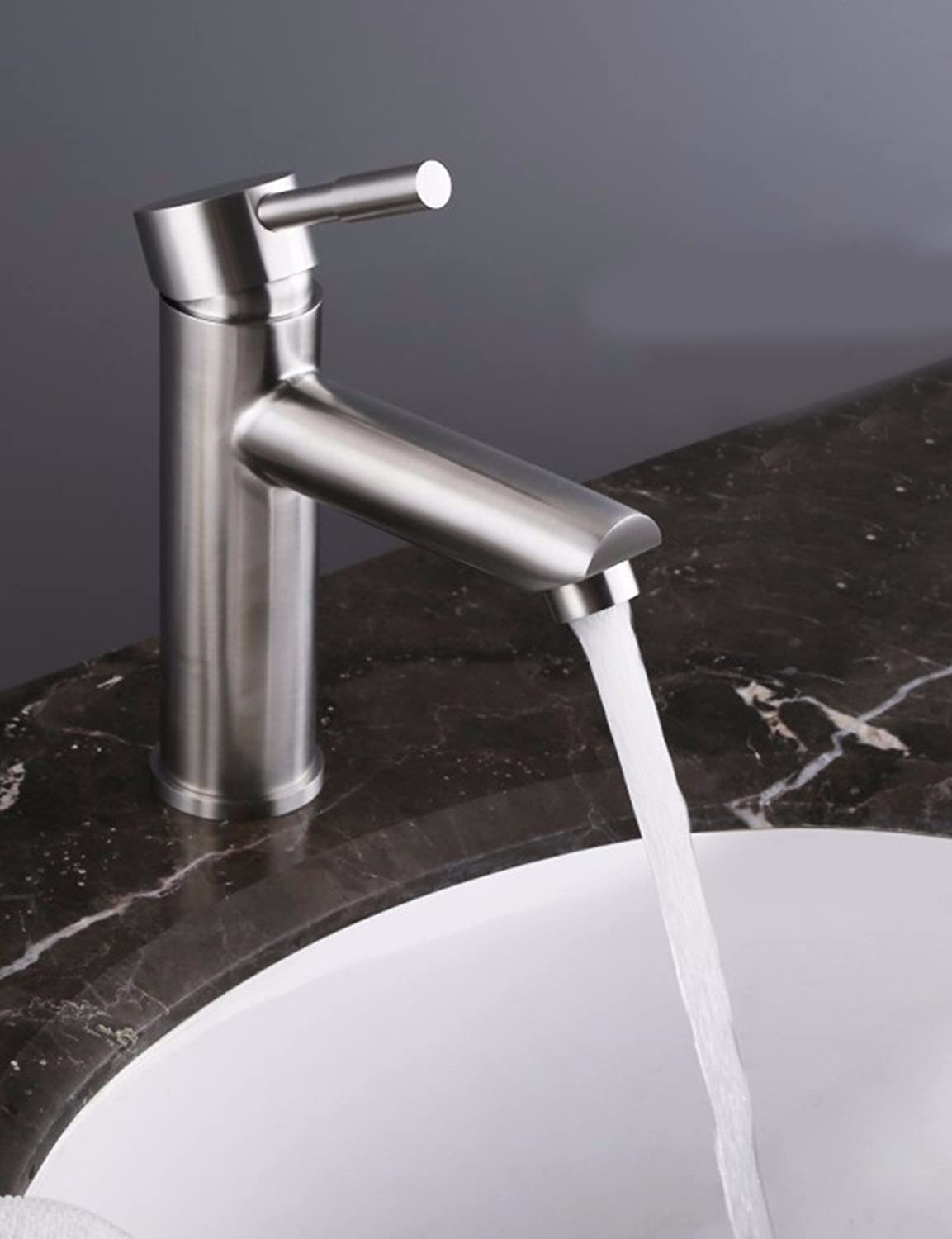 LHbox Basin Mixer Tap Bathroom Sink Faucet 304 Stainless Steel faucet, lead-free hot and cold water basin faucet, Washbasin Faucet, turn on the tub faucet,