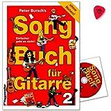 Peter Bursch Livre S SONG pour guitare 2–Sans Notes.–La Musique sont en léger singbare tonarten transponiert et avec tous les poignées et techniques de jeu–Note livre avec CD et Dunlop plek