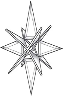 Stained Glass Supplies 3-D Star Bevel Cluster EC341