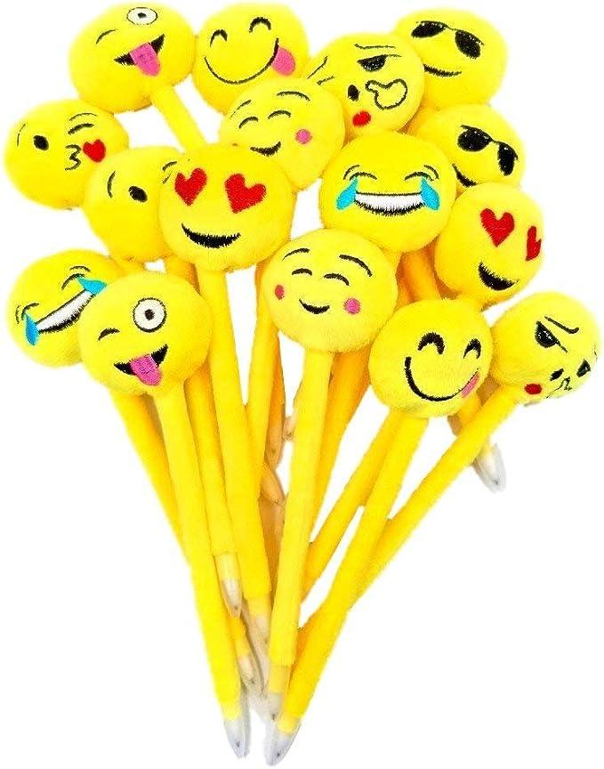 729 opinioni per JZK 16 Peluche Emoji penna divertente set penne a sfera biro blu penna bambini