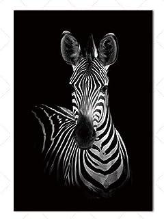 ZSHDBF Impressions sur Toile Peintures Murales d'art Décor,Impression HD Poster Retro Nordic Animal Minimaliste Noir Et Bl...