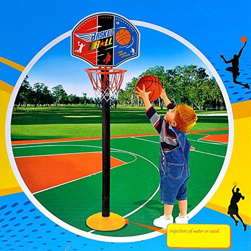 kingtoys Pallacanestro Regolabile fai da te da Pallacanestro Portatile Canestro Basket Assemblare Basket Set For Kids