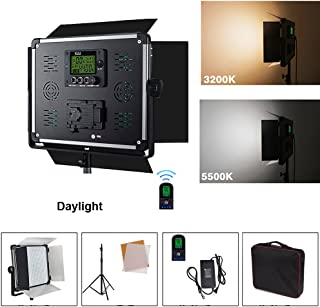 Yidobol E-2000 Daylight High Power 1724 LED Continuous Photography Light Panel Kit with 2.8m Tripod, 140W Photo Studio Video Film Lighting with Barndoor,DMX512 and Remote Control