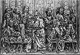 Kunstverlag Christoph Falk Einfarbige Radierung Rothenburg, Riemenschneider-Altar als Loses Blatt