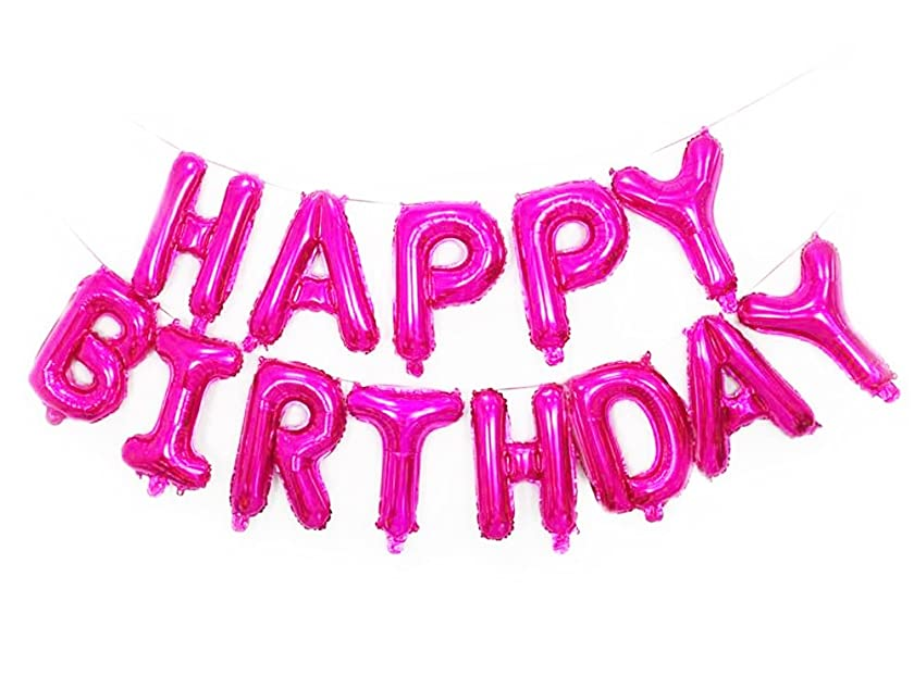 SGODA Happy Birthday Mylar Balloons Letters Balloon Pink