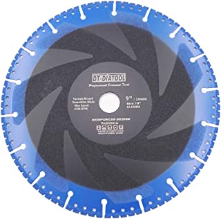 DT-DIATOOL 9 Inch Metal Cutting Disc - All Purpose Diamond Cut-Off Wheel for Steel Pipe Stone Reinforced Concrete Iron