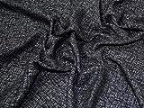 Lady McElroy Tweed Beschichtungsstoff, Schwarz/Grau,