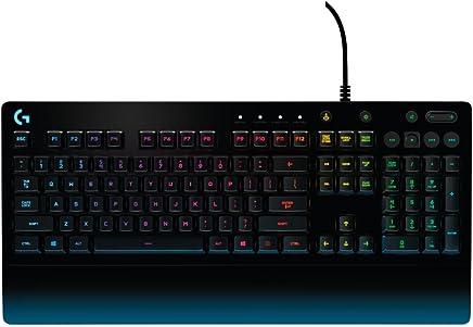Logitech G213 Prodigy Teclado Gaming, Retroiluminación RGB, Controles Multimedia, color Negro