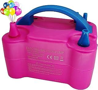 Afunti Inflador Eléctrico de Globos, electrica para Inflar Globos.hinchador globos electrico para fiestas 600W Alta potencia, Color rosado
