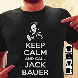 Jack Bauer Keep Calm And Call Jack Bauer T Shirt Long Sleeve Sweatshirt Hoodie for Men and Women