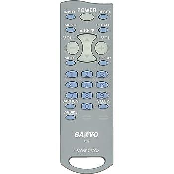 Original Sanyo FXTB LCD TV Remote Control for Models AVM2751, AVM2751S, CLT-1554, CLT2054, DS19310, SLT1554