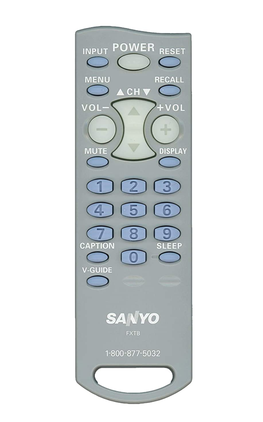 Original Sanyo FXTB LCD TV Remote Control for Models AVM2751, AVM2751S, CLT-1554, CLT2054, DS19310, SLT1554