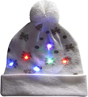771f37e282ffe4 Euone 🦄 Christmas Hats, LED Light-up Knitted Caps Winter Ugly Sweater  Beanie Holiday
