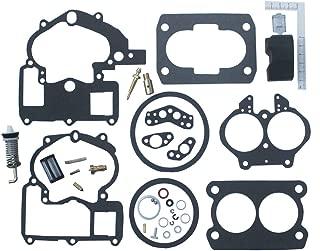 KIPA Carburetor Repair Rebuild Kit For Mercruiser Marine 2 Barrel Rochester Carburetor with FLOAT 3302-804844002# 1389-9562A1 1389-9563A1 1389-9564A1 1389-9670A2 1389-806077A2 1389-806078A2