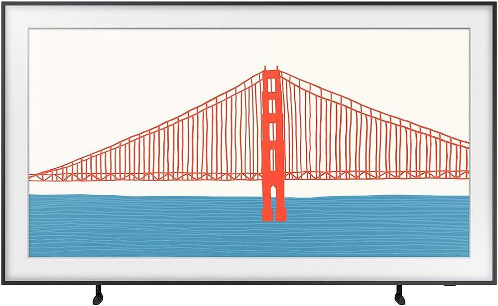 Samsung the frame qled 4k 2021, smart tv 50 pollici, risoluzione 4k uhd, processore qled 4k con ia, hdr 10 piu QE50LS03AAUXZT