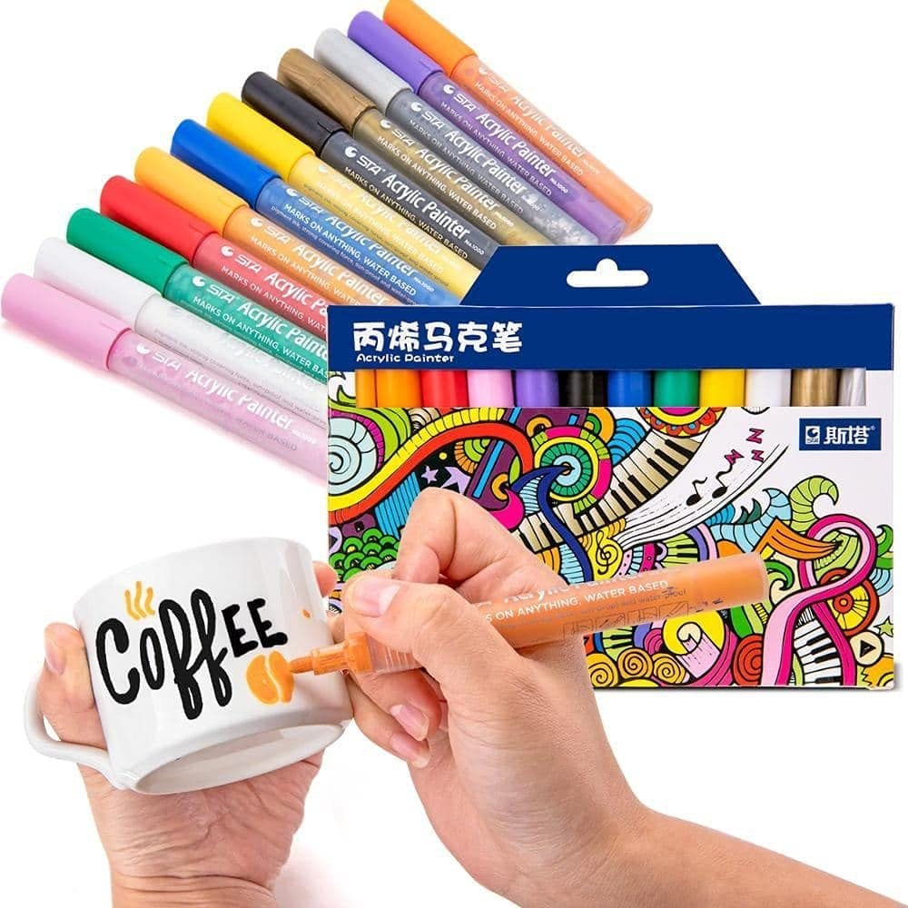 Belmaks Acrylic Paint Markers overseas Max 58% OFF for Set - Permanent