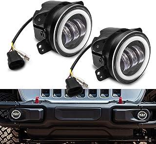 Safego 7' 50W LED Scheinwerfer Frontscheinwerfer für Motorrad J eep Wrangler JK TJ LED Nebelscheinwerfer, 2 Stück, 1 Jahr Garantie