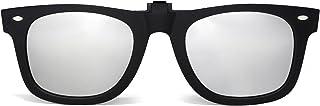 JIM HALO - Polarizadas Clip en Gafas de Sol Flip up Anteojos de Espejo Hombre Mujer