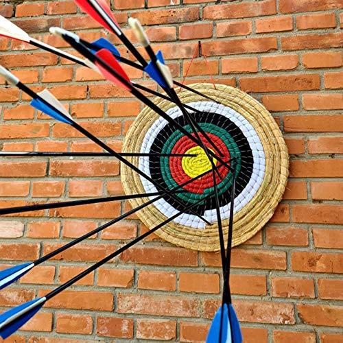 Daybreak Bogenschießen Ziel 45x45cm Traditionelles Handgemachtes Festes Stroh Rundes Zielscheibe Für Im Freienpraxis Bogenschießen-Bogen Und Schießenpfeil