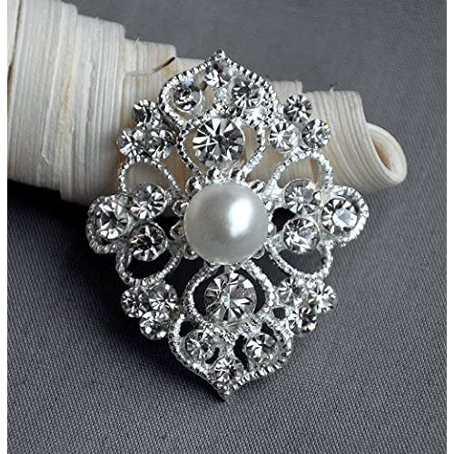 Lovely Diamante Brooches Pack Of 6 Wedding Bridal Bouquet Decoration Jewellery Jewelry & Watches