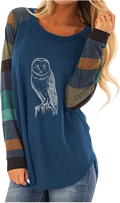 AODONG Women Sweatshirt, Womens Color Block Floral Printed Shirts Long Sleeve Crewneck Sweatshirts Loose Casual Blouses