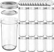 KAMOTA Wide Mouth Mason Jars 22 OZ With Wide Lids and Bands, Ideal for Jam, Honey, Wedding Favors, Shower Favors, Baby Foo...