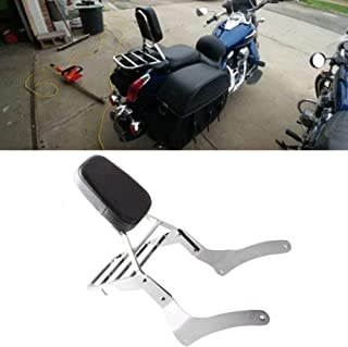 Comfortable Leather Backrest Sissy Bar + Luggage Rack Pad for Kawasaki Vulcan 900 VN900 1996-2018