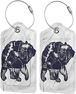 Cabin kids luggage tags Bear Great Outdoors Artistic Baggage tag suitcase carry it with you 2.85