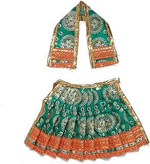 Aditri Creation Diwali Pooja Laxmi Ganesh Dress poshak vastra Cloth lehanga Chunari Dhoti Puja Item Festival decorartion s...