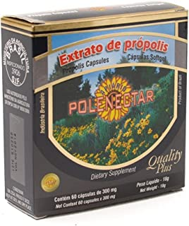 6 Boxes Of Brazilian Green Bee Propolis Extract Apiario Polenectar Concentrated Softgel 300 mg Capsules By JLBrazil