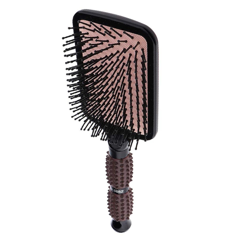 アライアンス回復する標準Perfeclan ヘアブラシ 櫛 くし 頭皮/肩/顔マッサージコーム 美髪ケア 血行促進 薄毛改善 全2サイズ - スクエア