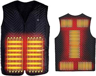 YEKKU Chaleco eléctrico con calefacción, chaqueta calentada, almohadilla de calentamiento, calentador, para mujeres y hombres