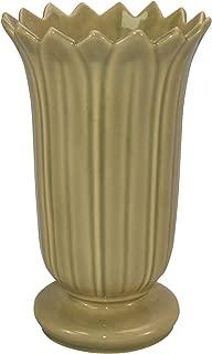 Roseville Pottery Mayfair Tan Art Deco Ceramic Vase 1003-8
